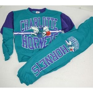 Vintage 1993 Charlotte Hornets Youth Sweatsuit